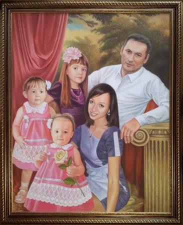 Семейный портрет маслом в Ереване — правильная традиция…