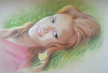 Настоящий портрет пастелью для любимой девушки в Ереване, просто и со вкусом!