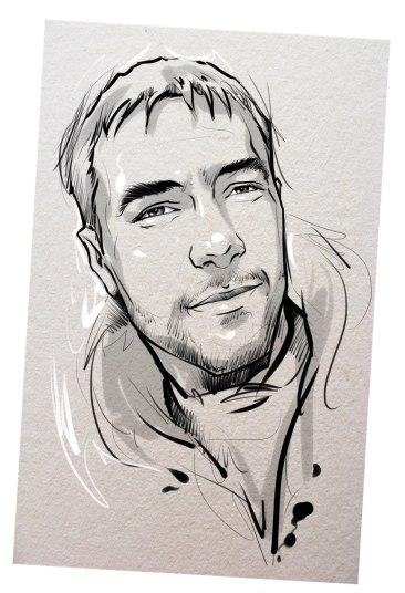 Портрет карандашом любимому мужу в Ереване…