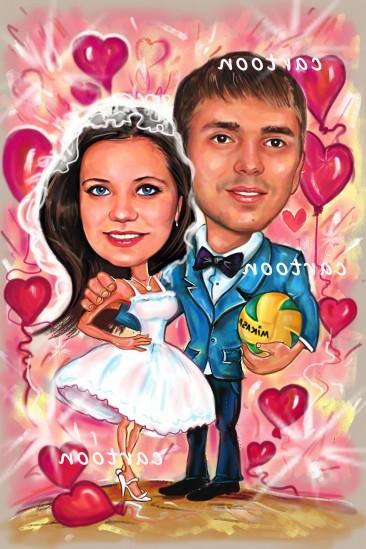 Свадебный шарж с оригинальным сюжетом в Ереване!