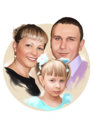 Семейный портрет по фото на холсте в Ереване — правильный подарок!