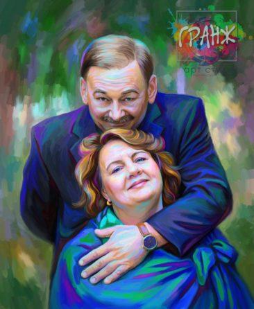 Портрет по фото на холсте Ереван