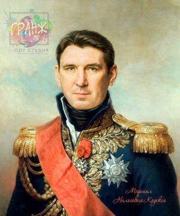 Портрет по фото на холсте в подарок мужчине на 23 февраля Ереван