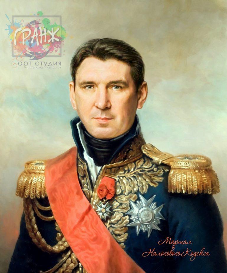 Портрет по фото на холсте в подарок мужчине Ереван