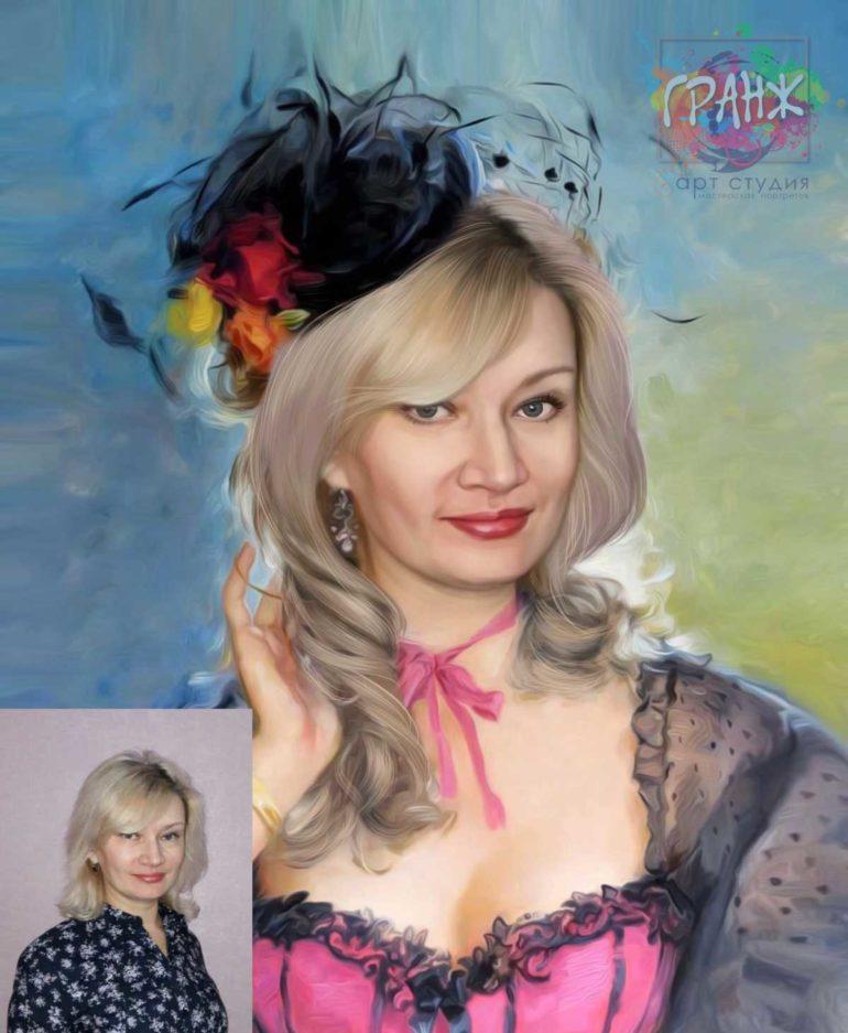 Заказать арт портрет по фото на холсте в Ереване