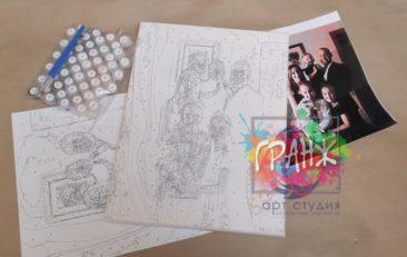 Картина по номерам по фото, портреты на холсте и дереве в Ереване